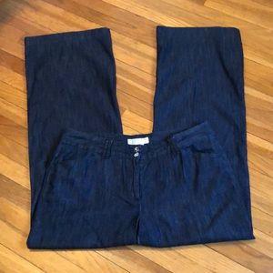 Michael Kors wide leg denim trousers sz 12